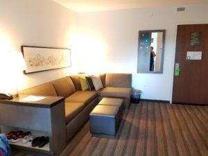 Living Room in Hyatt House Atlanta/Downtown | AprilNoelle.com