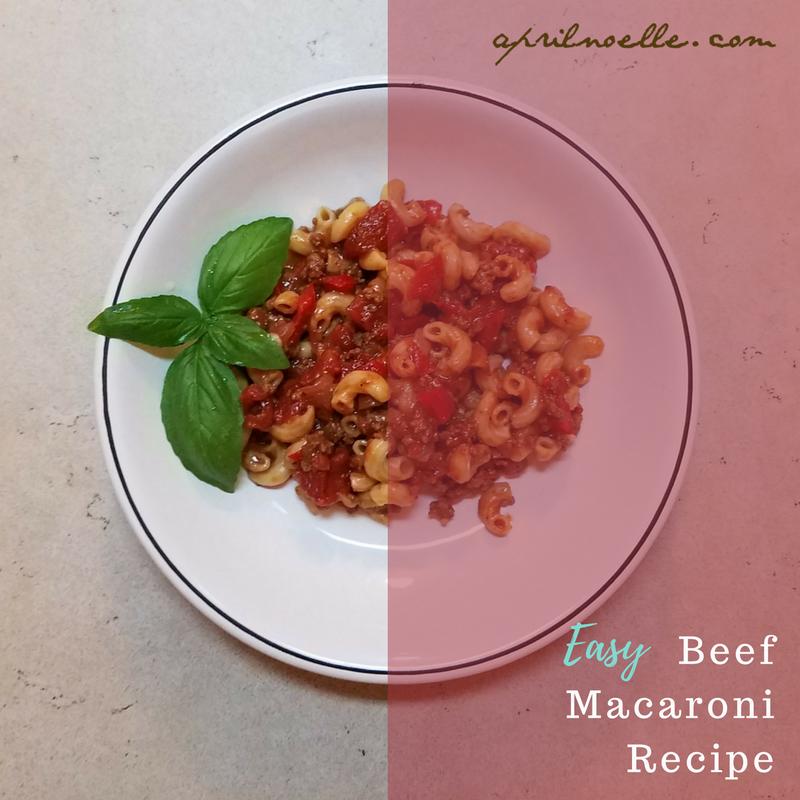 Easy Beef Macaroni #Recipe | AprilNoelle.com